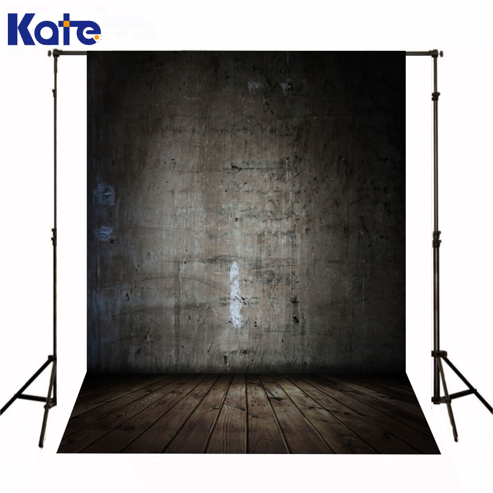 Kate Backdrops Photography Newborn Baby Rough Gray Wall Foto Achtergrond Kerst Wood Texture Floor Backdrop For Photo Shoot  недорого