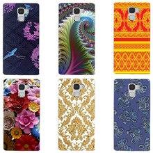 "Fashion Printed Case For Huawei Honor 7 5.2"" Honor 7 Premium Cover Original Cute Printing Drawing Hard Plastic Phone Case"