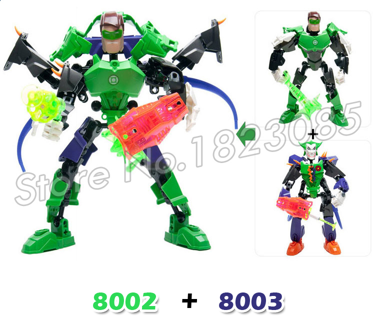 3types Super Heroes Hero Factory Ultrabuild Batman Green Lantern The Joker Model Building Blocks Toy Bricks Compatible With Lego