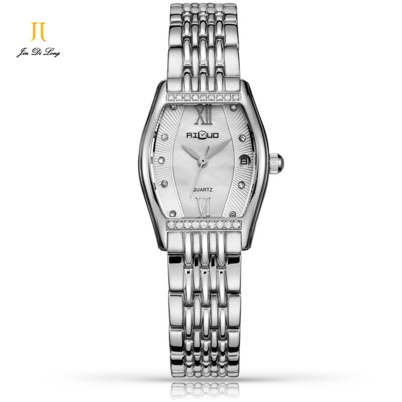 Ailuo Luxury Fashion Ladies Casual Dress Watch Women Elegant Glory Quartz Watches Retro Diamond Wristwatch Waterproof