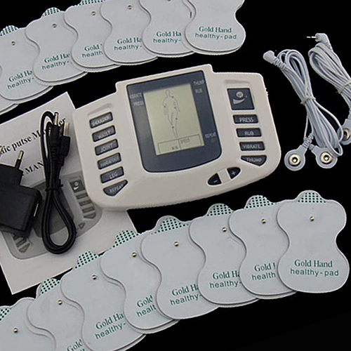 Electronic Muscle Stimulator Full Body Massager Acupuncture Therapy Machine 2017 hot sale mini electric massager digital pulse therapy muscle full body massager silver