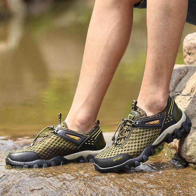 816c3f8bc New high quality Men Upstream Aqua Shoes Outdoor sport Shoes Men for Beach  River trekking shoes
