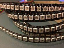 1 m led APA102-C sk9822 tira barra de luz digital semelhante a ws2801 144 leds/m adalight ip20 preto com dados e relógio separadamente