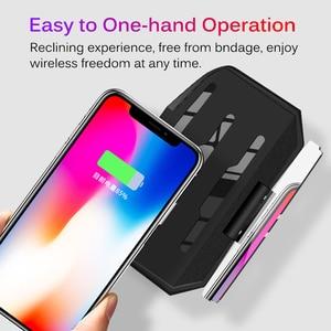 Image 4 - Chargeur sans fil pour téléphone intelligent universel voiture miroir support pare brise projecteur HUD tête haute affichage GPS Navigation HUD support