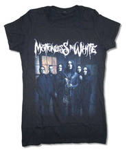 100% Cotton Geek Family Top Tee Crew Neck Women Motionless In White Group Band  Short-Sleeve Summer Shirt
