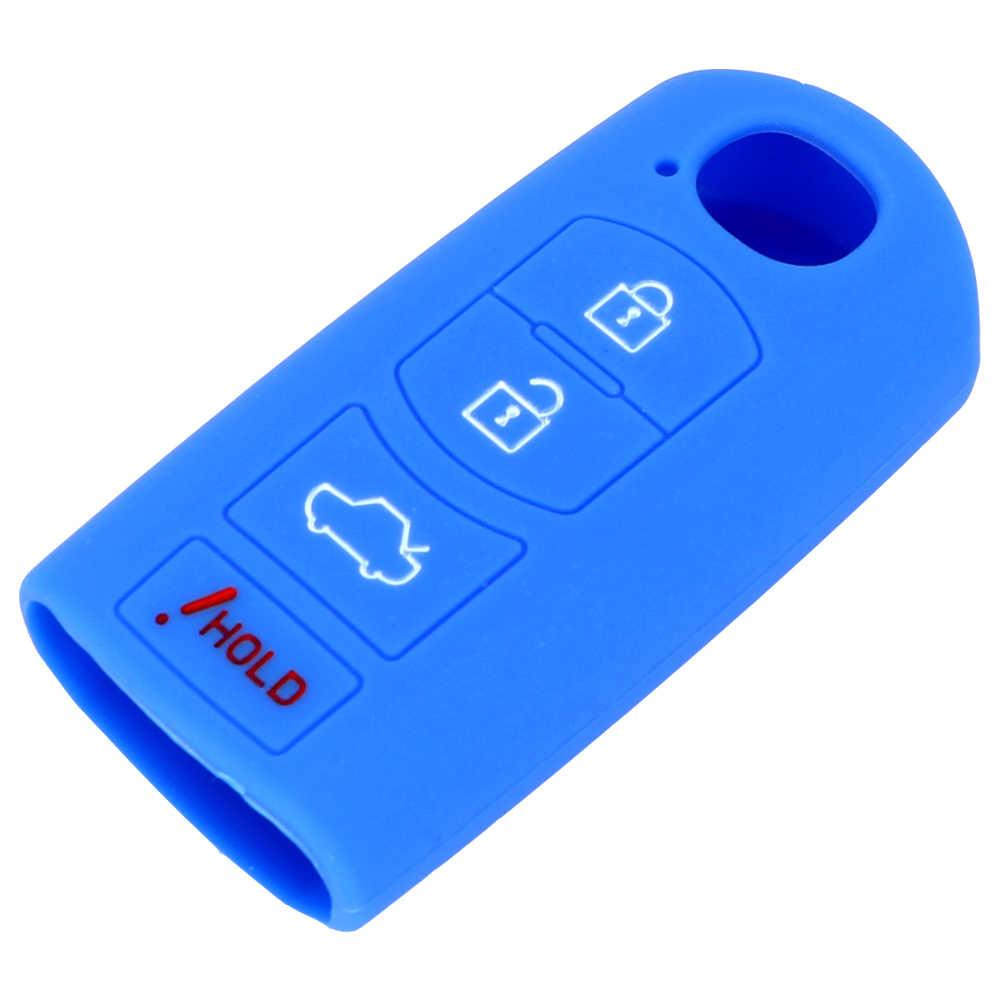 LEEPEE voiture clé protecteur à distance voiture clé couverture voiture clé coquille pour MAZDA 3 6 MX5 CX-5 CX-7 CX-9 4 boutons clé sac étui de remplacement