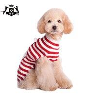 سانتا كلوز نمط الكلب نمط الدافئة الحياكة كنزة عيد XXS-XXL صغير كبير الكلب الملابس 2017 xms الشتاء بيع