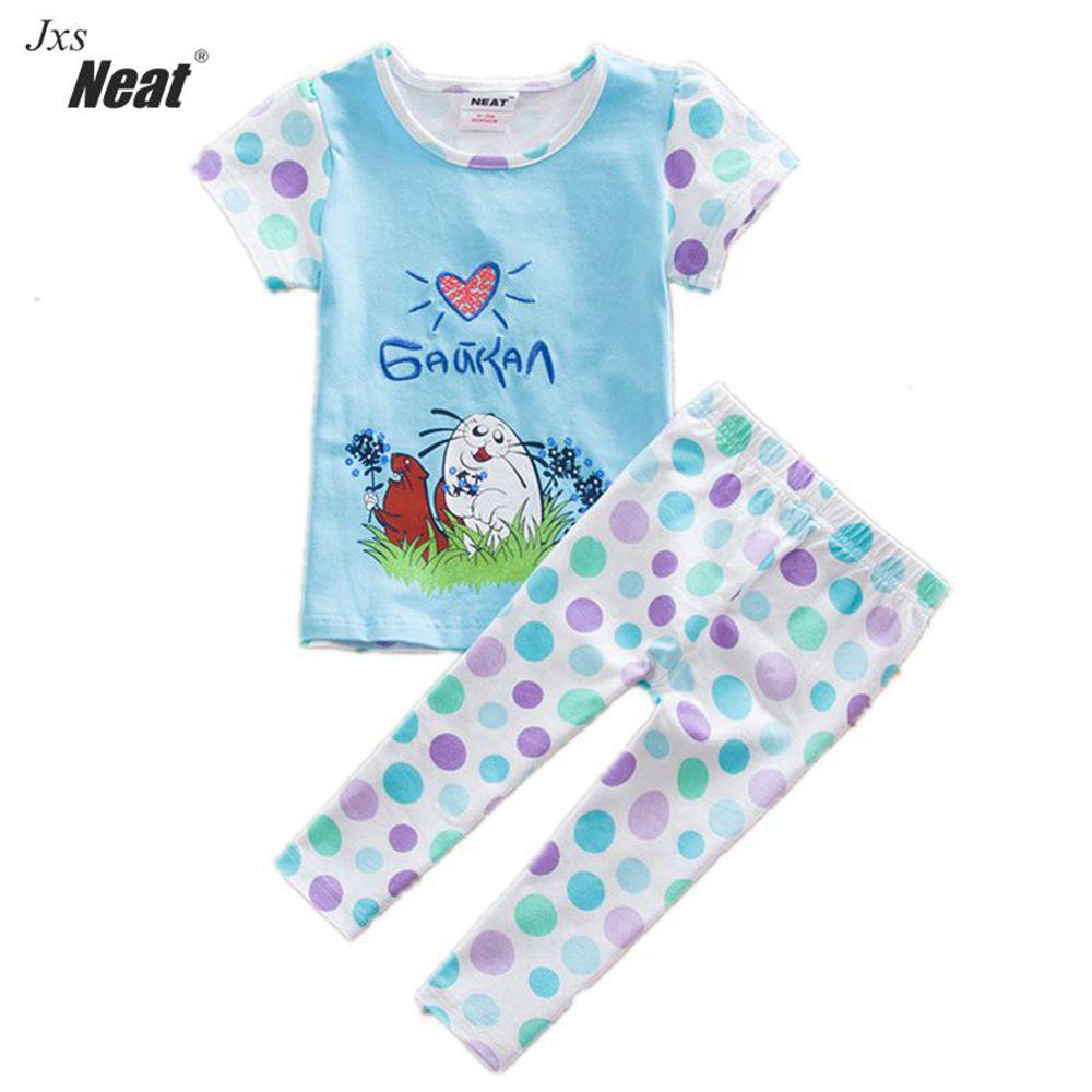 retail summer suit clothes t-shirt&pants kids clothes cotton short baby suit girls clothes children suit kids clothing TS5518