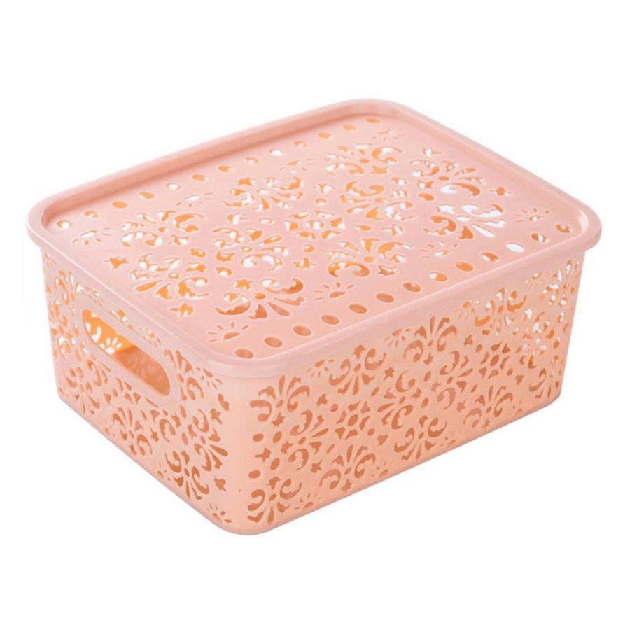 DIVV Hollow Storage Box Organizer Cosmetic Display Stand Makeup Storage Tie Container Desktop Case Drop Shipping ap1214