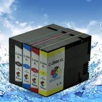 4 Color 1set Non Infringement Ink Cartridge Pgi 2500 For Canon MB4050 MB5050 MB5350 Printer