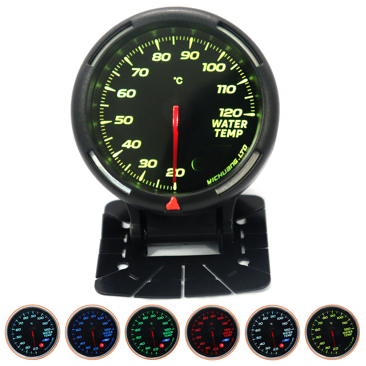 60MM 20 120 Degree Celsius Water Temperature Gauge 64 Backlight with Sensor NPT1 8 quot for 12V Vehicles Auto Cars in Water Temp Gauges from Automobiles amp Motorcycles
