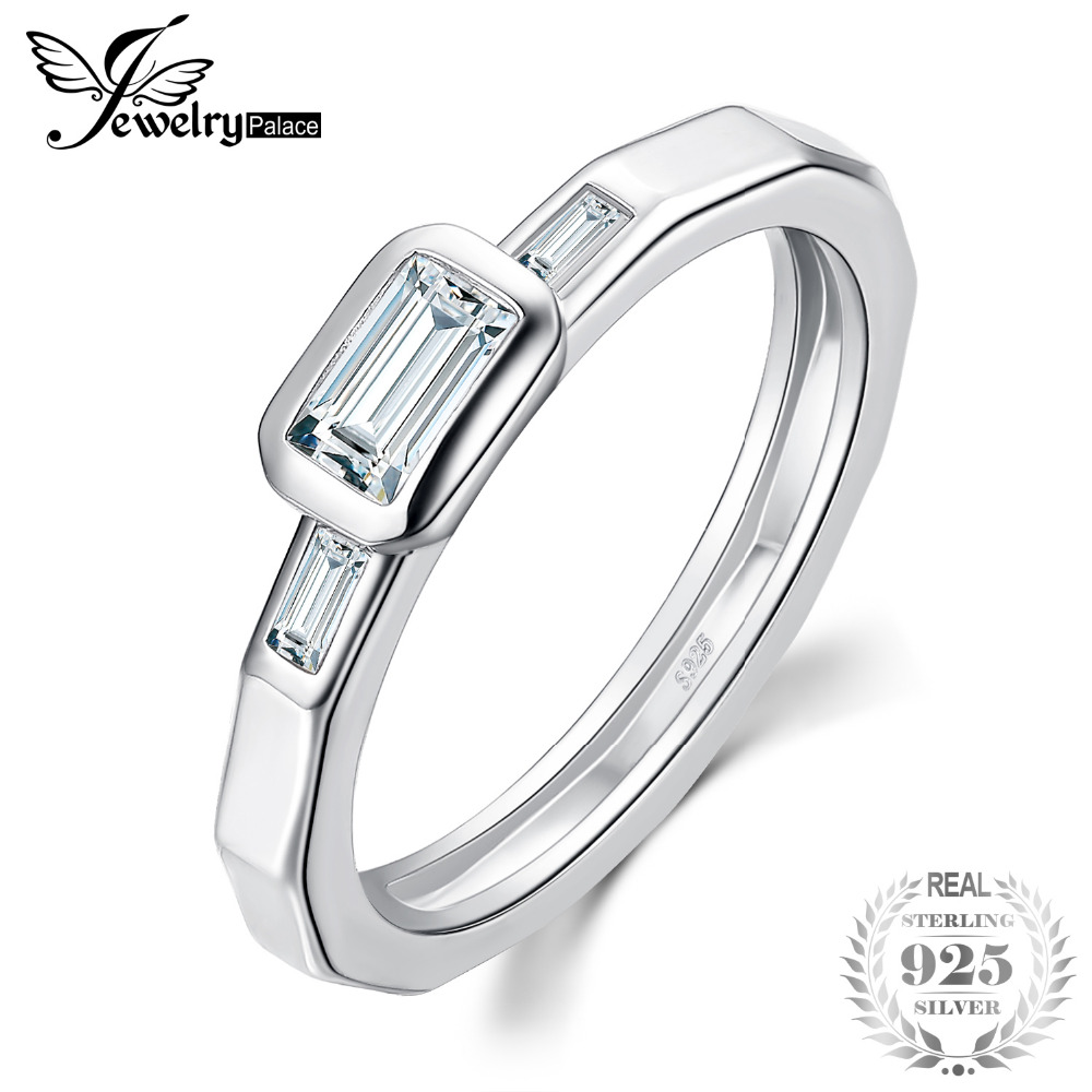 JewelryPalace Multi Faceted Cubic Zirconia 925 Sterling Silver Ring Wedding Promise Engagement Ring Bridal Jewelry Women FashionJewelryPalace Multi Faceted Cubic Zirconia 925 Sterling Silver Ring Wedding Promise Engagement Ring Bridal Jewelry Women Fashion