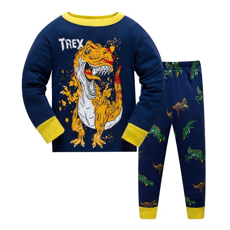 3-8Y Kids Boy Animal Pajamas Sleepwear Clothes Set Child Cartoon Pijamas Children New Year Pyjamas