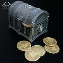 COMIC CLUB HCMY 10pcs/lot wow Alliance Horde commemorate metal coins gift metal box for Collection