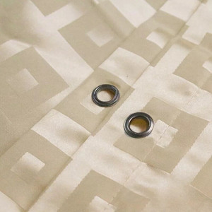 Image 3 - XYZLS Modern duş perdesi su geçirmez küf geçirmez Polyester banyo perdesi kare ızgara banyo perdeleri kanca ile