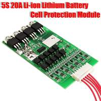 1PC 5s Cells 24V 20A Balancing Li Ion Lithium 18650 Battery In Out BMS Protection Board