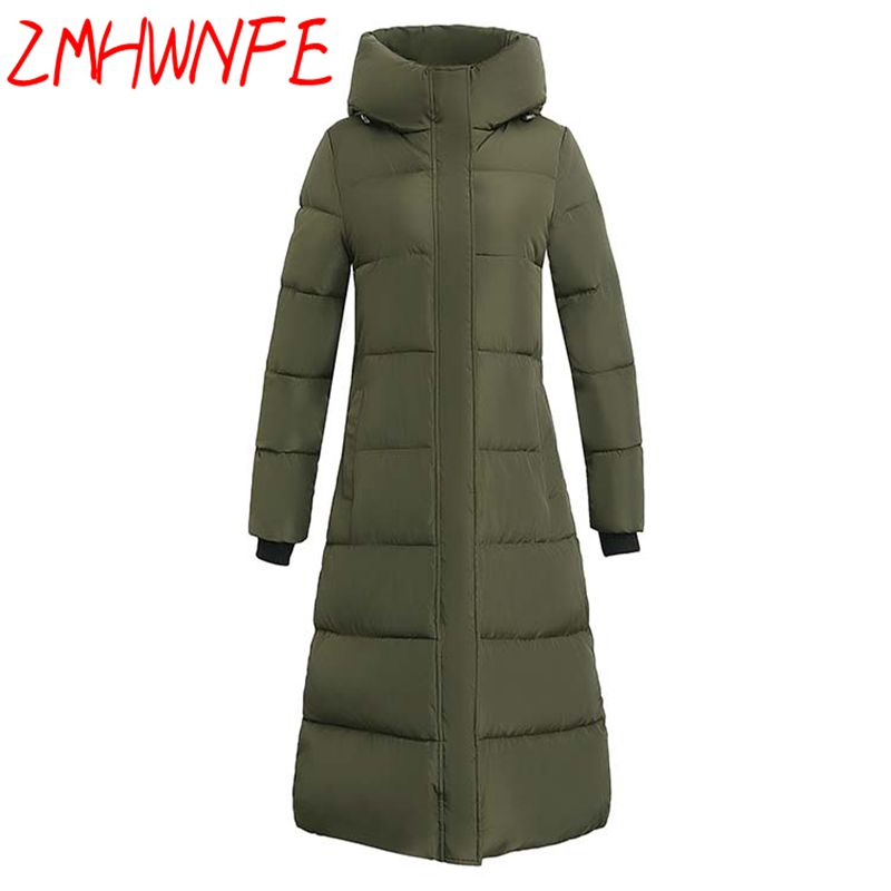 Womens Winter Jackets And Coats Winter Windbreaker Women 's Cotton Jacket Long - Padded Hooded Printed Coat Leisure Outcoat