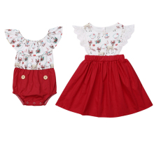 matching little sister big sister christmas reindeer dresses