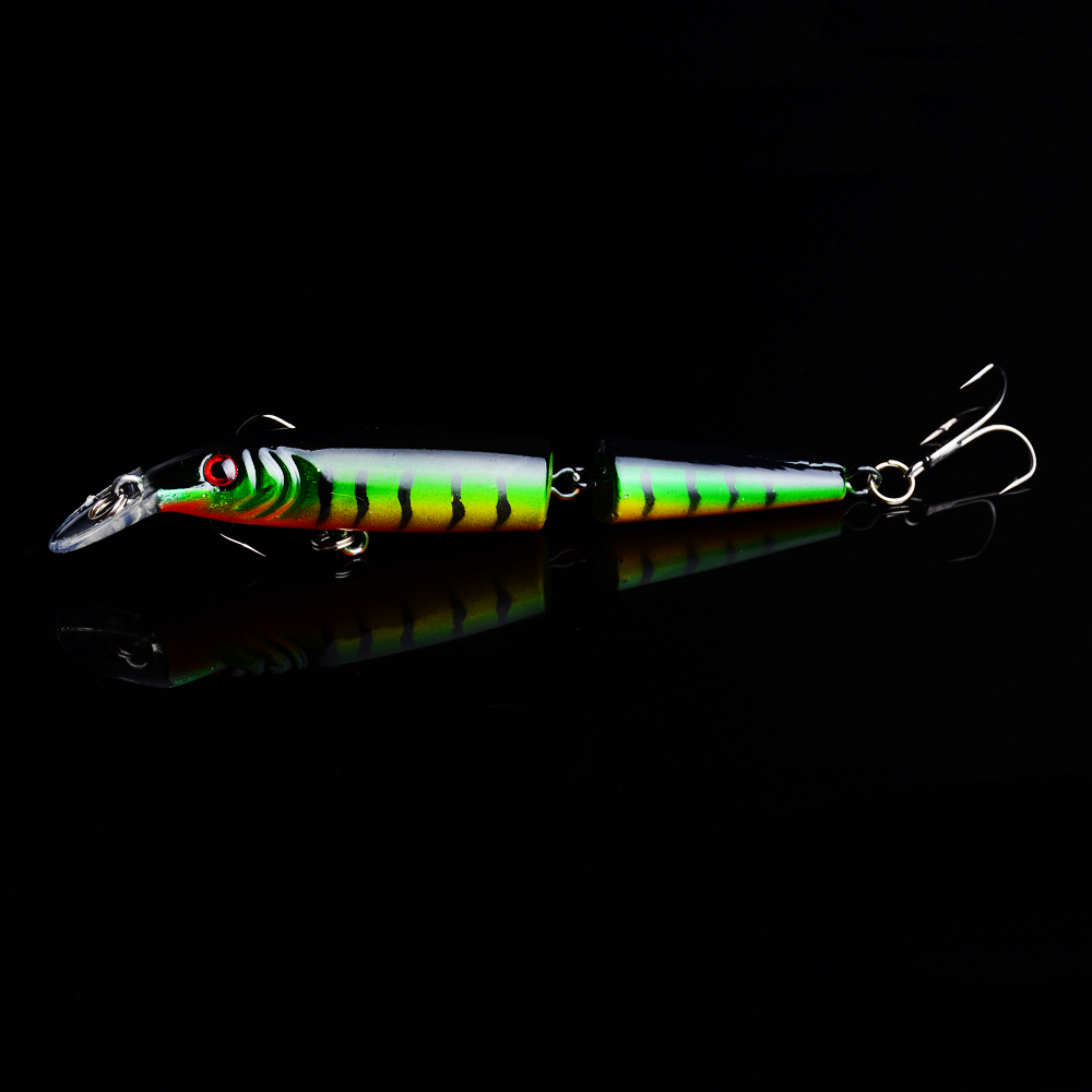1Pcs Multi section Minnow 9 2g Hard Bait Pesca Artificial 10cm Excellent Wobbler fish Fishing lures Crankbait Fishing Tackle in Fishing Lures from Sports Entertainment