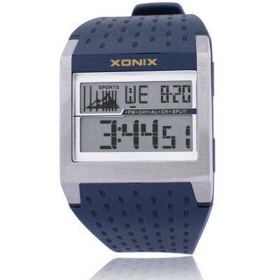 XONIX Точные Марка Классическая Мода Многофункциональный Daterproof Дайвинг СВЕТОДИОДНЫЕ Светящиеся Электронные Часы GC 100 М