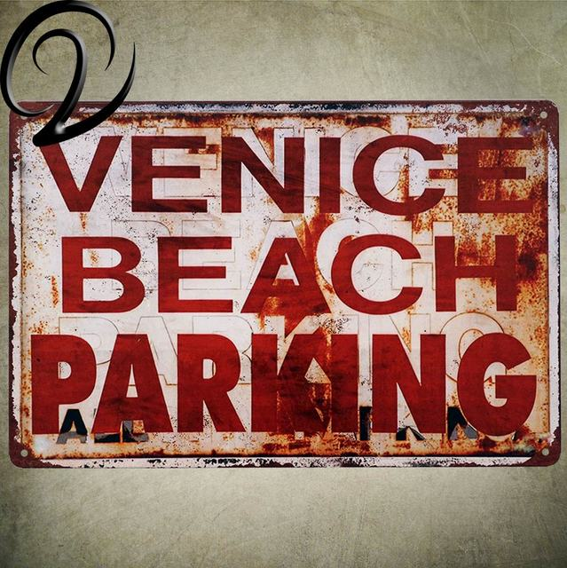 Venice Beach Parking Vintage Metal Sign Bar Pub Cafe Home Hotel Wall ...