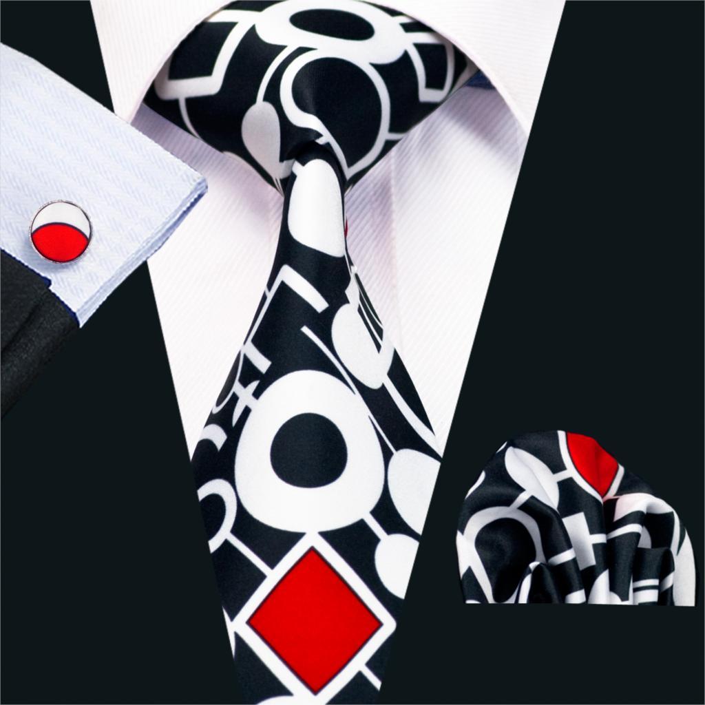 FA-1209 Nova Chegada de Impressão Moda Laços Para Homens de Alta Qualidade de Design Da Marca Gravata Lenço Abotoaduras Set Para Festa de Casamento