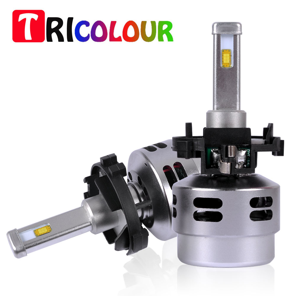 TRICOLOUR 1set H7 LED 40W headlight super bright Kit High Power Car Light Lamp Bulb For Volkswagen Golf 7 #TD003 tc x upgrade led car headlight bulb kit h7 80w set h4 hi lo head lamp fog light kit h11 hb3 hb4 led auto front bulbs wholesale