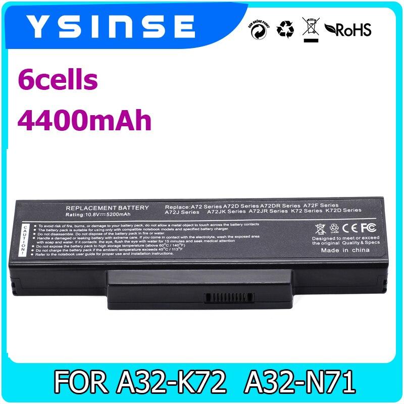 Laptop Battery For Asus A32-K72 A32-N71 K72DR K72 K72D K72F K72JR K73 K73SV K73S K73E N73SV X77X77VN k72-100 akg k72