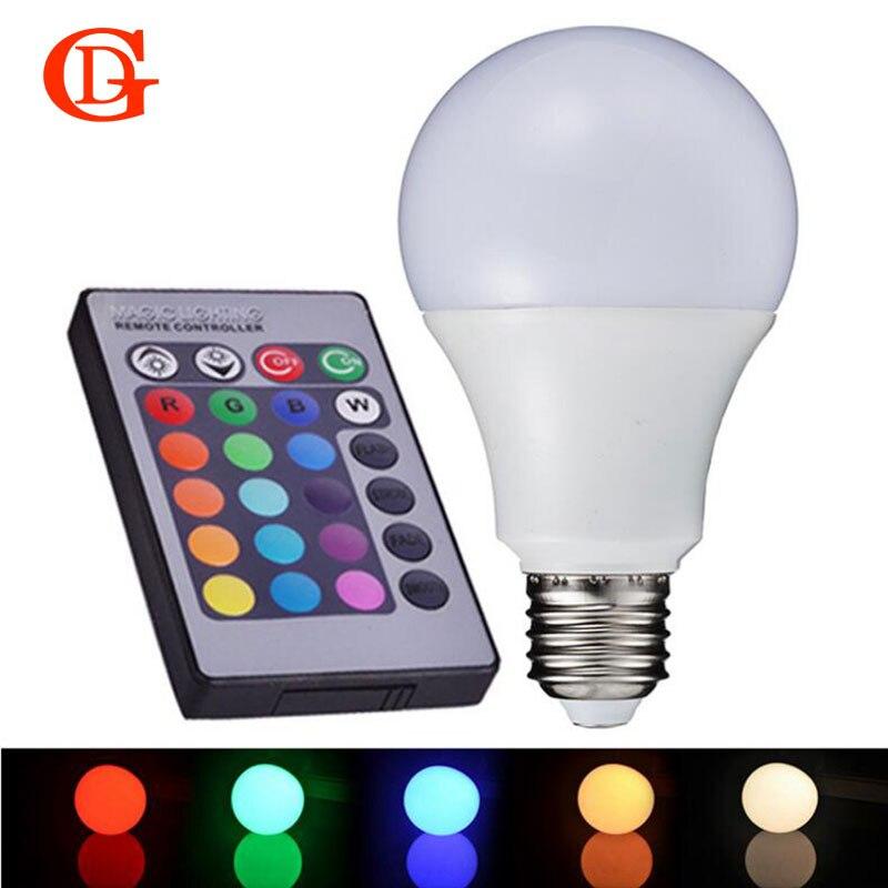 GD 1 шт. E27 RGB светодиодные лампы 3 Вт RGB LED лампа 220 В 110 В свет 16 Цвет 24 ключевых ИК-Дистанционное управление Люстра для Гостиная Спальня