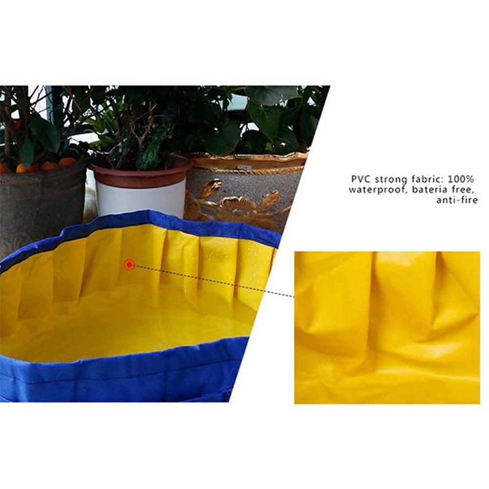 LanLan Portable Folding Pet Bathtub Durable Waterproof Outdoor Dog Cat Bath Tub Pocket Pet Swimming Pool