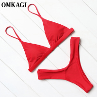 OMKAGI Brand Brazilian Bikini 2017 Swimwear Swimsuit Women Sexy Micro Bikinis Set Swimming Bathing Suit Beachwear