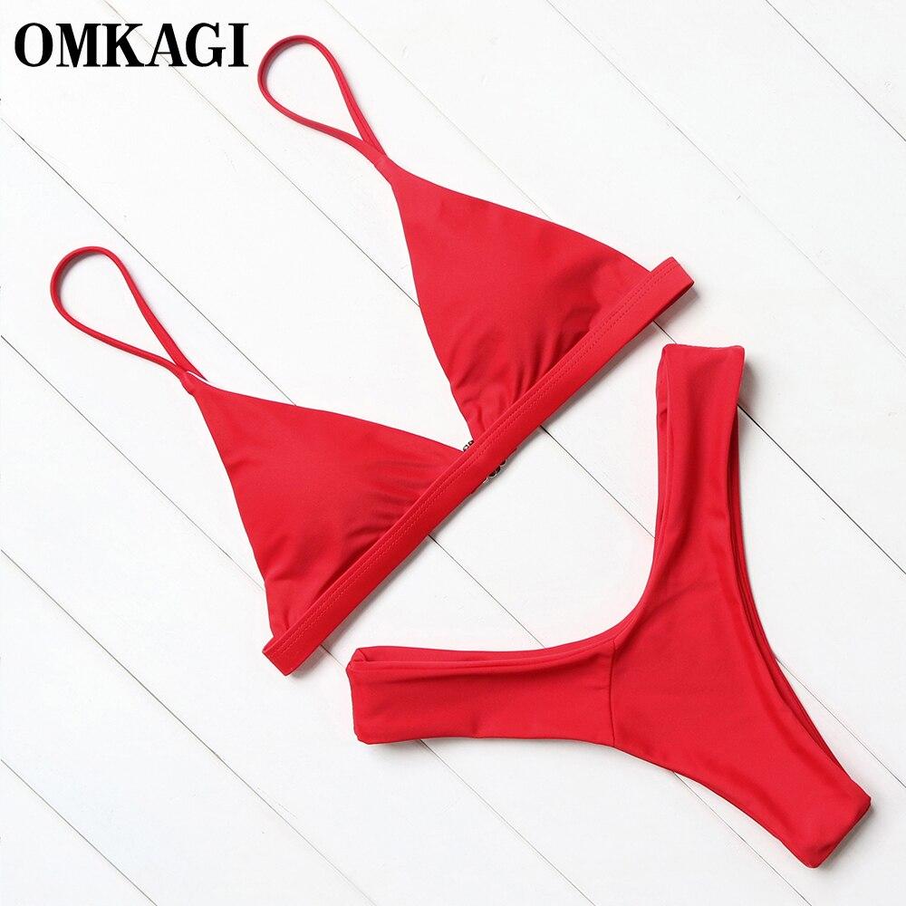 OMKAGI di Marca Costumi Da Bagno Delle Donne Costume Da Bagno Sexy Push Up Micro Bikini Set di Nuoto Costume Da Bagno Beachwear Estate Bikini Brasiliano 2018