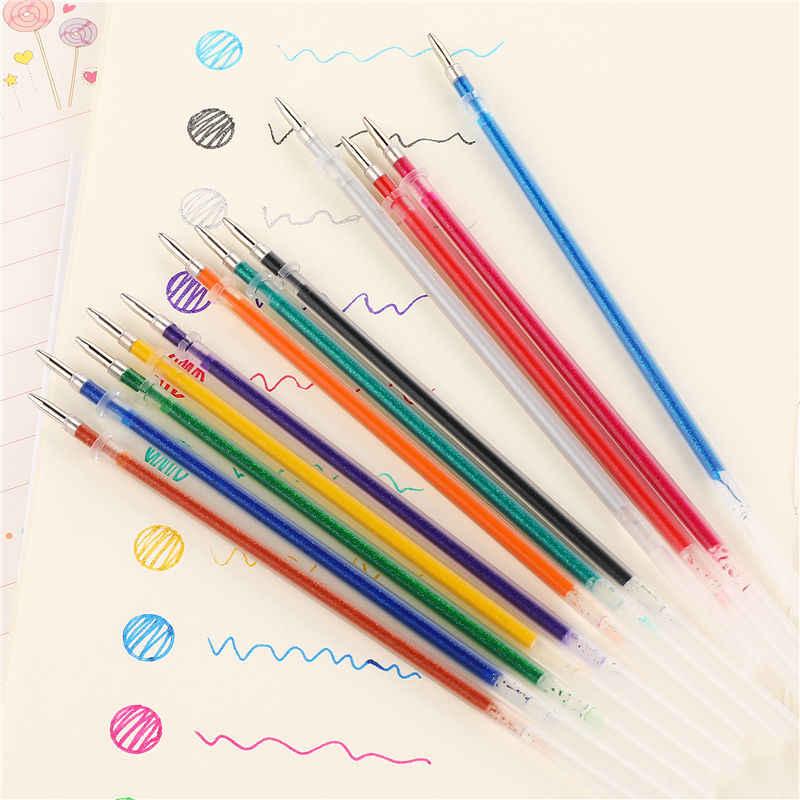12/24/36/48 mehrfarben Kugelschreiber Gel Stift Highlighter Refill Bunte Glänzende Stifte Für Schule Chancellory Gel Pen-Set 04116