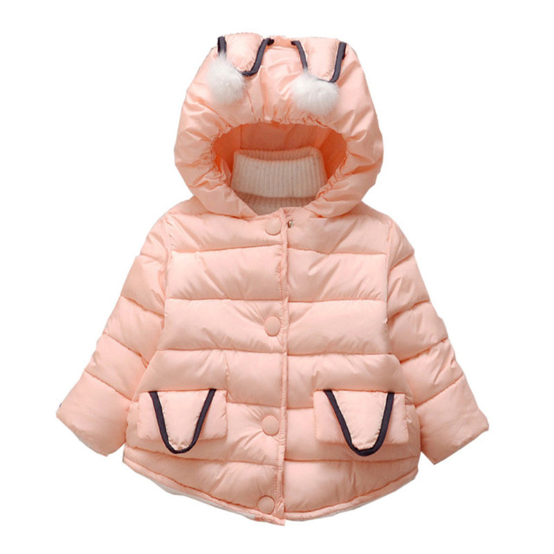 Baby girls warm outerwear winter newborn baby thick fashion cotton hoodies for bebe girls infant winter coats baby clothing