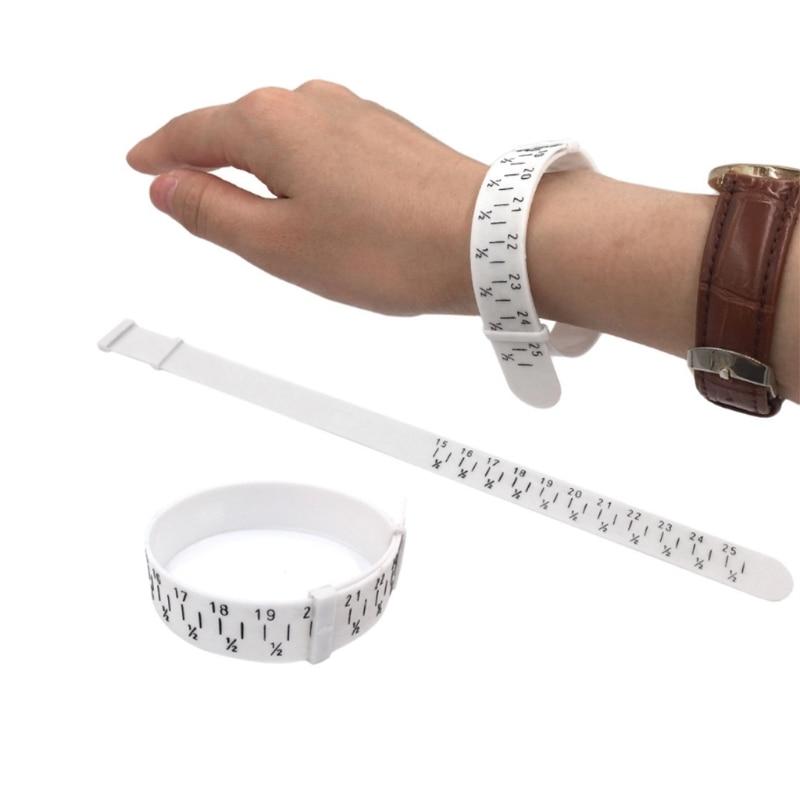 New Bracelet Sizer Plastic Wristband Measuring Tool Bangle Jewelry Making Gauge Hand