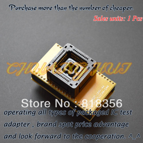 Demo Board & Accessories Independent Sdp-univ-44 Programmer Adapter Plcc44 To Dip44 Adapter Ic Test Socket Gold-plated Contacts Double-layer Circuit Board Invigorating Blood Circulation And Stopping Pains Demo Board