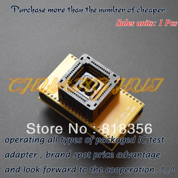SDP-UNIV-44 programmer adapter PLCC44 to DIP44 adapter IC Test Socket gold-plated contacts double-layer circuit board psop44 to dip44 sop44 soic44 sa638 b006 ic test socket adapter for rt809h programmer high quality