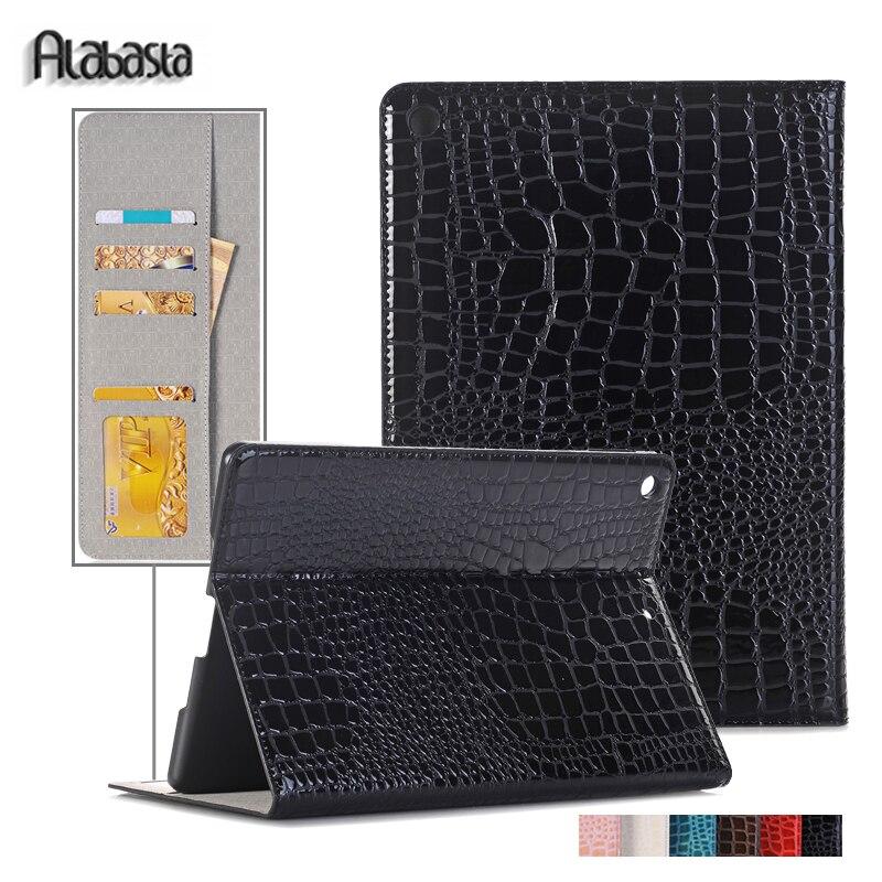 For Apple iPad mini 4 Alabasta Crocodile PU Leather Smart Cover Safe Shockproof Case for iPad mini 4 protective Stylus