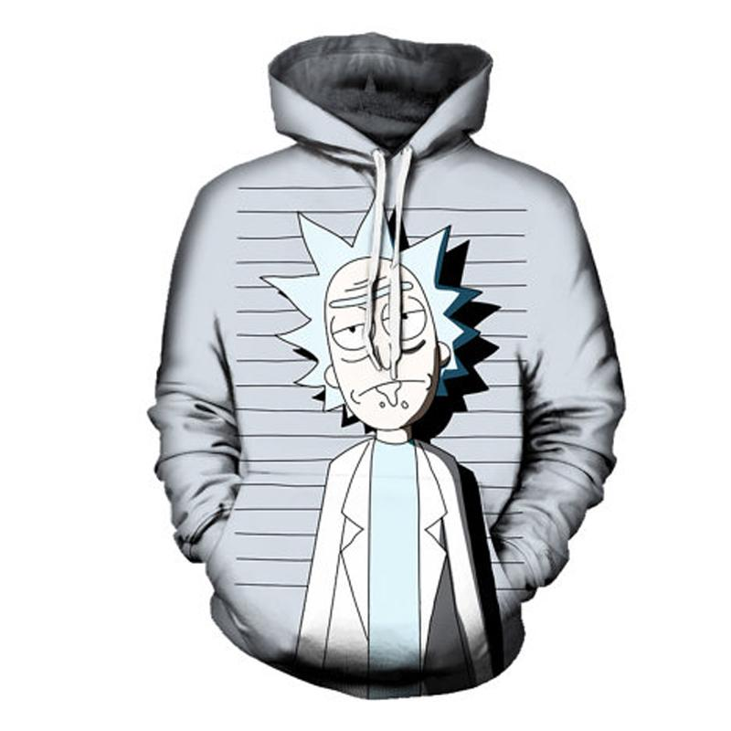 RICK AND MORTY MUG SHOT HOODIE Hip Hop 2018 Printed 3D Sweatshirt