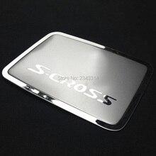 Для Suzuki SX4 S-Cross S Cross нержавеющая сталь крышка топливного бака/бензобака Защитная крышка автомобильные аксессуары