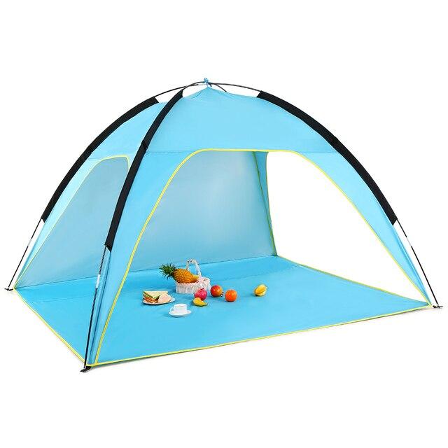 קל משקל חוף אוהל צל שמש UV החופה מקלט שמש קמפינג דיג אוהל קמפינג אוהל נסיעות חוף אוהלי קמפינג חיצוני