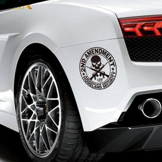 Skull Gun Car Symbol Stickers Decor Diy Vinyl Home Decals Wall Art - How to make vinyl car decals at home