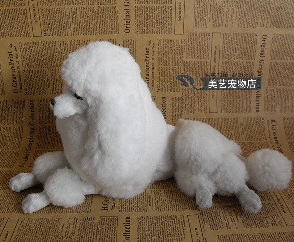 simulation white poodle toy dog 40x20x22cm toy model polyethylene&furs prone dog model home decoration props ,model gift d145 new simulation red fox toy polyethylene
