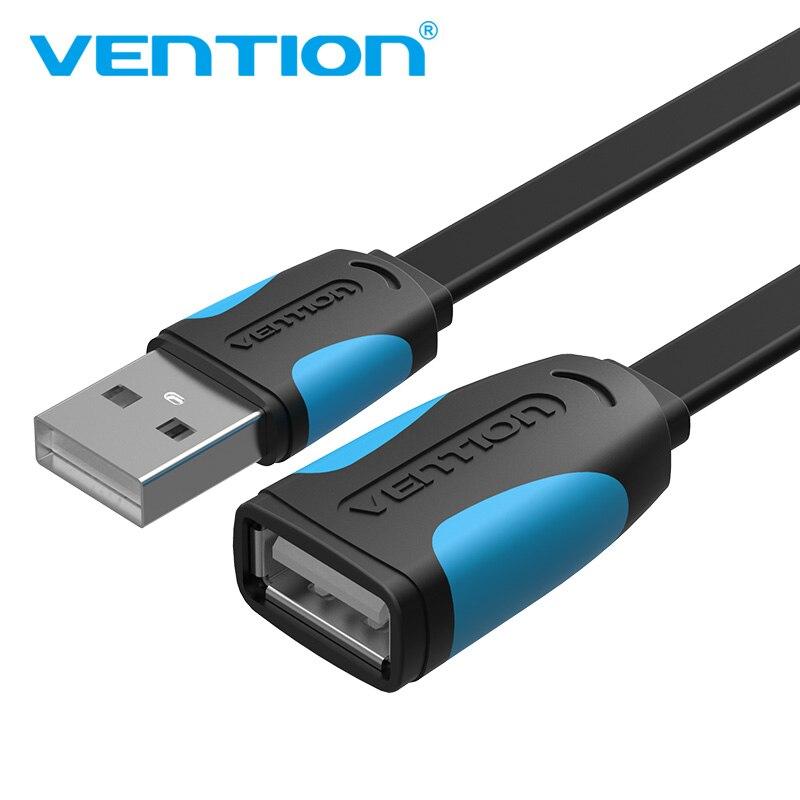 Vention usb2.0 3.0 cabo de extensão macho ao cabo de extensão fêmea velocidade rápida usb3.0 cabo estendido para computador portátil usb extensão 5m