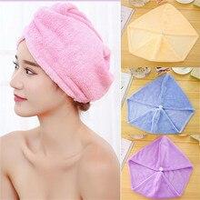 Women Magic Microfiber Bath Hair Towel Girls Dry Hat Cap Quick Bathroom Tool Shampoo
