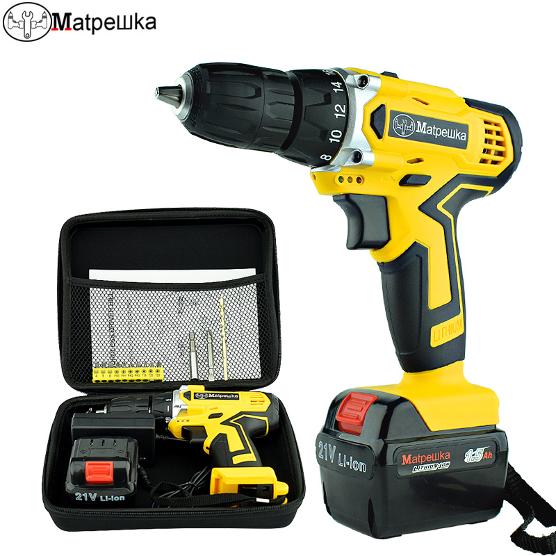 цена на 21V Rechargeable Electric Screwdriver Hand-held Electric Drill Lithium Battery Household Multi-function Small Electric Drill