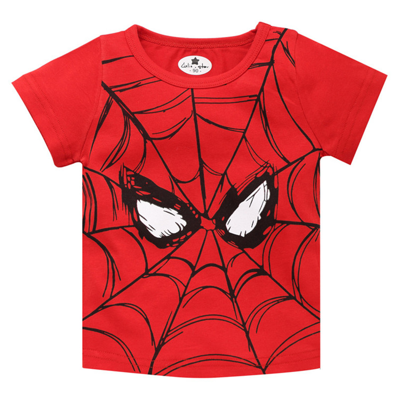 New Kids Boys Toddlers Cartoon Superhero Spiderman Hooded Cotton Tops T Shirts