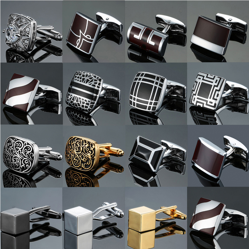 Quality Enamel Baking Paint, Men's French Shirt Cufflinks Wholesale Custom Made Cuff Top Grade Business Shirt Cufflinks.