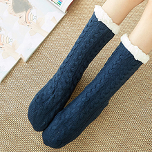 Women Fluffy Keep Warm Winter Socks Girls Solid Cotton Wool Bed Gift Soft Floor Home Fashion Stocks Female Hot Sale