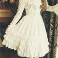 Осень Специальные Индивидуальные Лолита Vintage Дворец Юбка Мягкая Шифон Кружева Высокая Щелевая Юбки Милые Девушки Японские Dolly Одежда X024